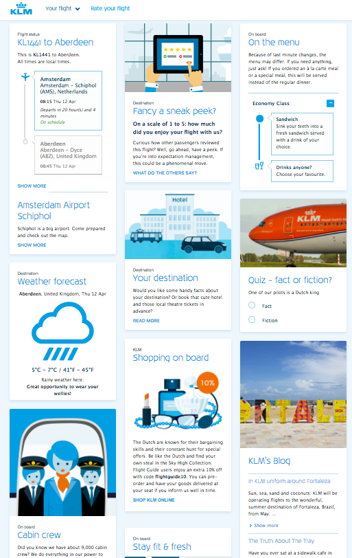 klm booking info