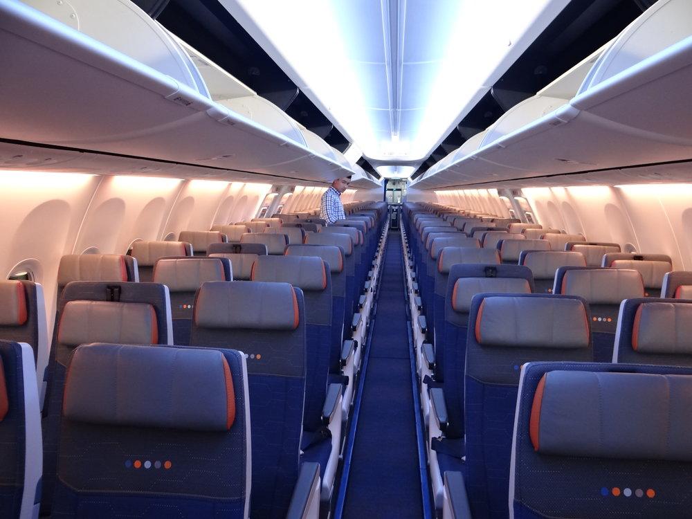flydubai economy class cabin