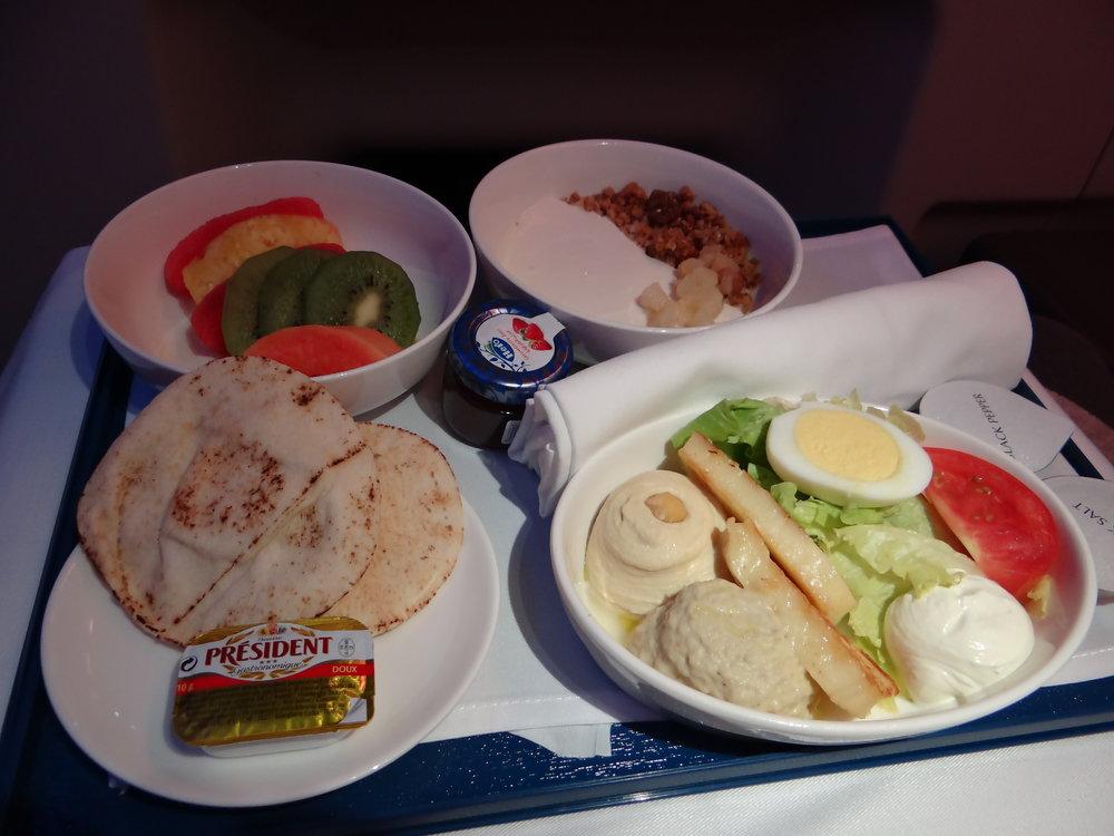 flydubai inflight meal biz class