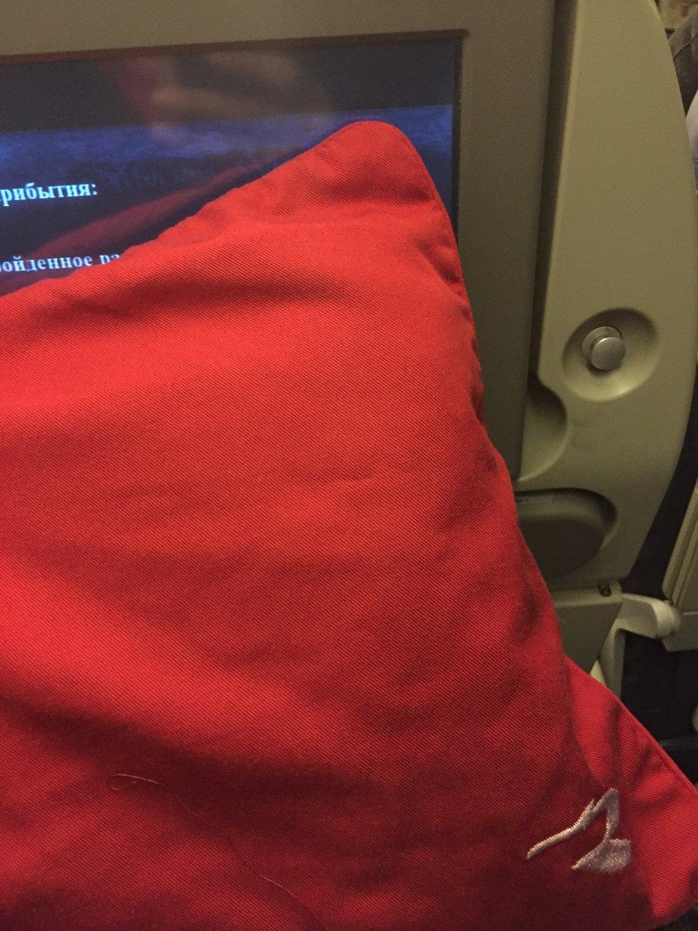 rossiya airlines pillow.JPG