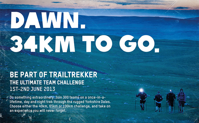 Oxfam Trailtrekker – we repositioned the offer in the minds of the audience