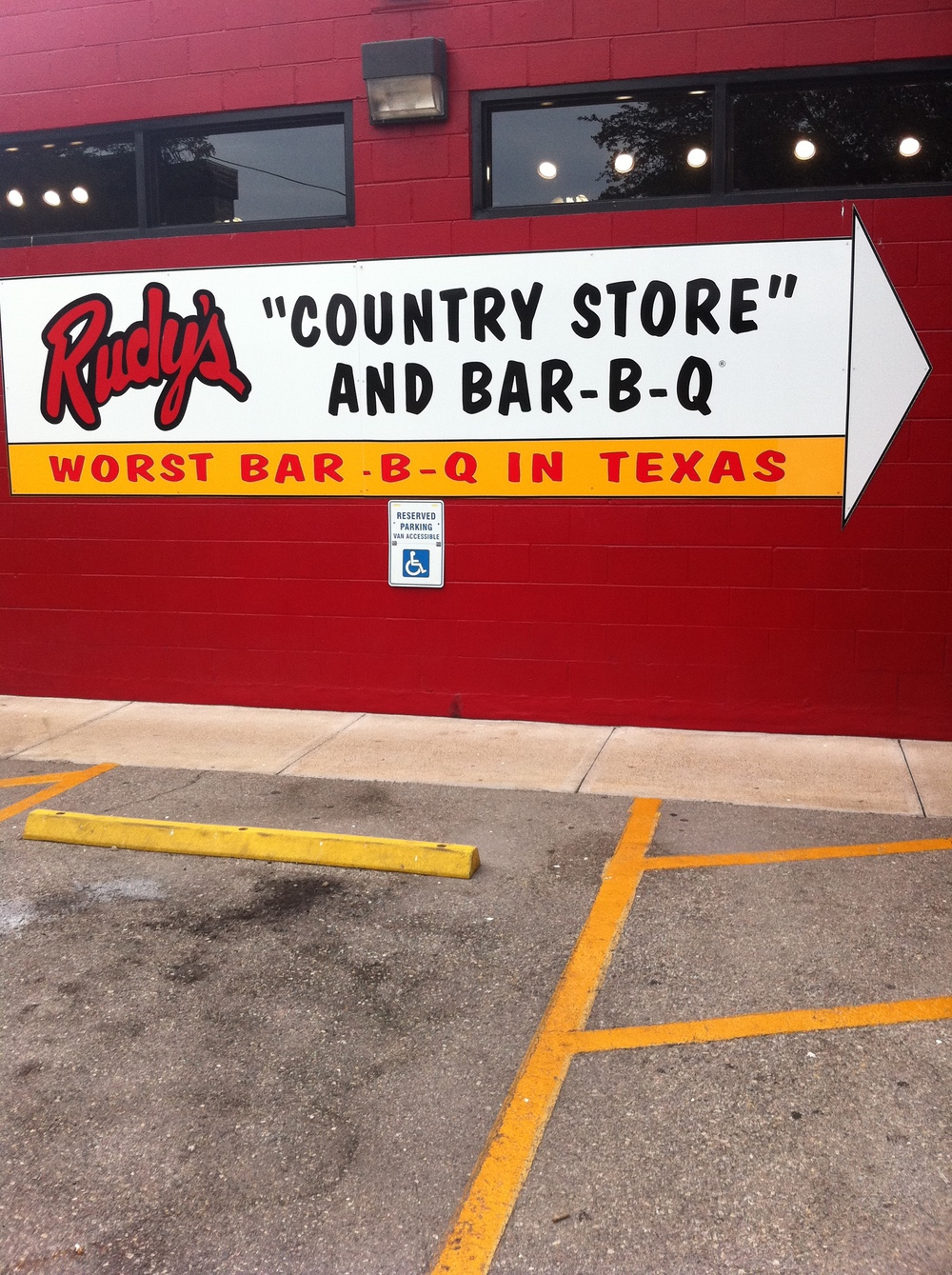 Rudy's-The Worst BBQ in Texas