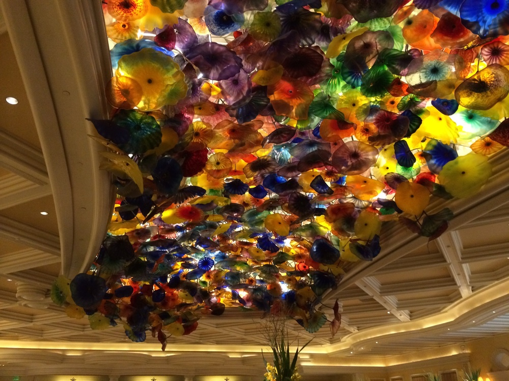 Ceiling of the lobby at the Bellagio