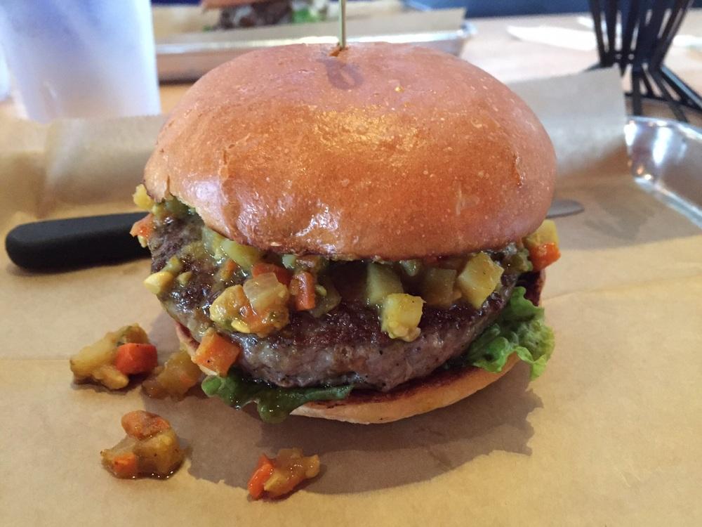 Good Korma Lamb Burger