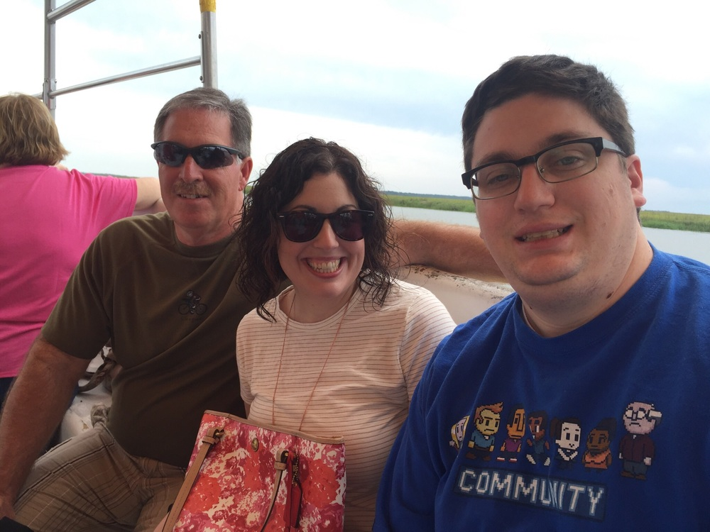 Dad, Me and Mike on the dolphin cruise