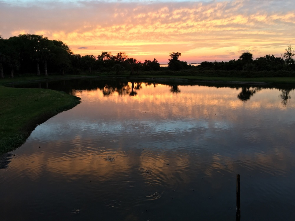 Sunset by turtle pond