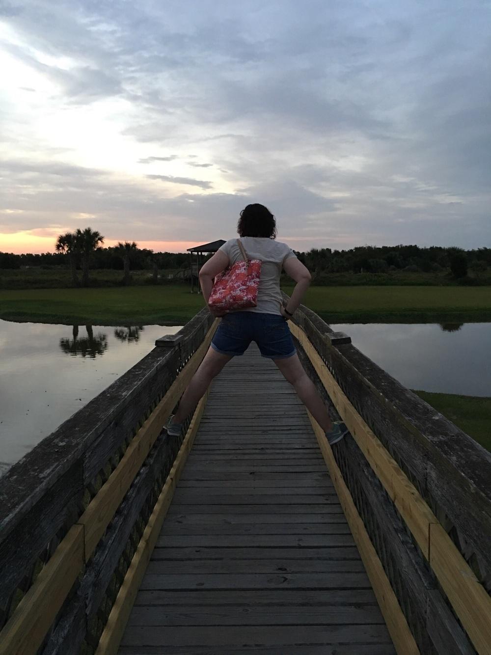 Acting a fool on a bridge