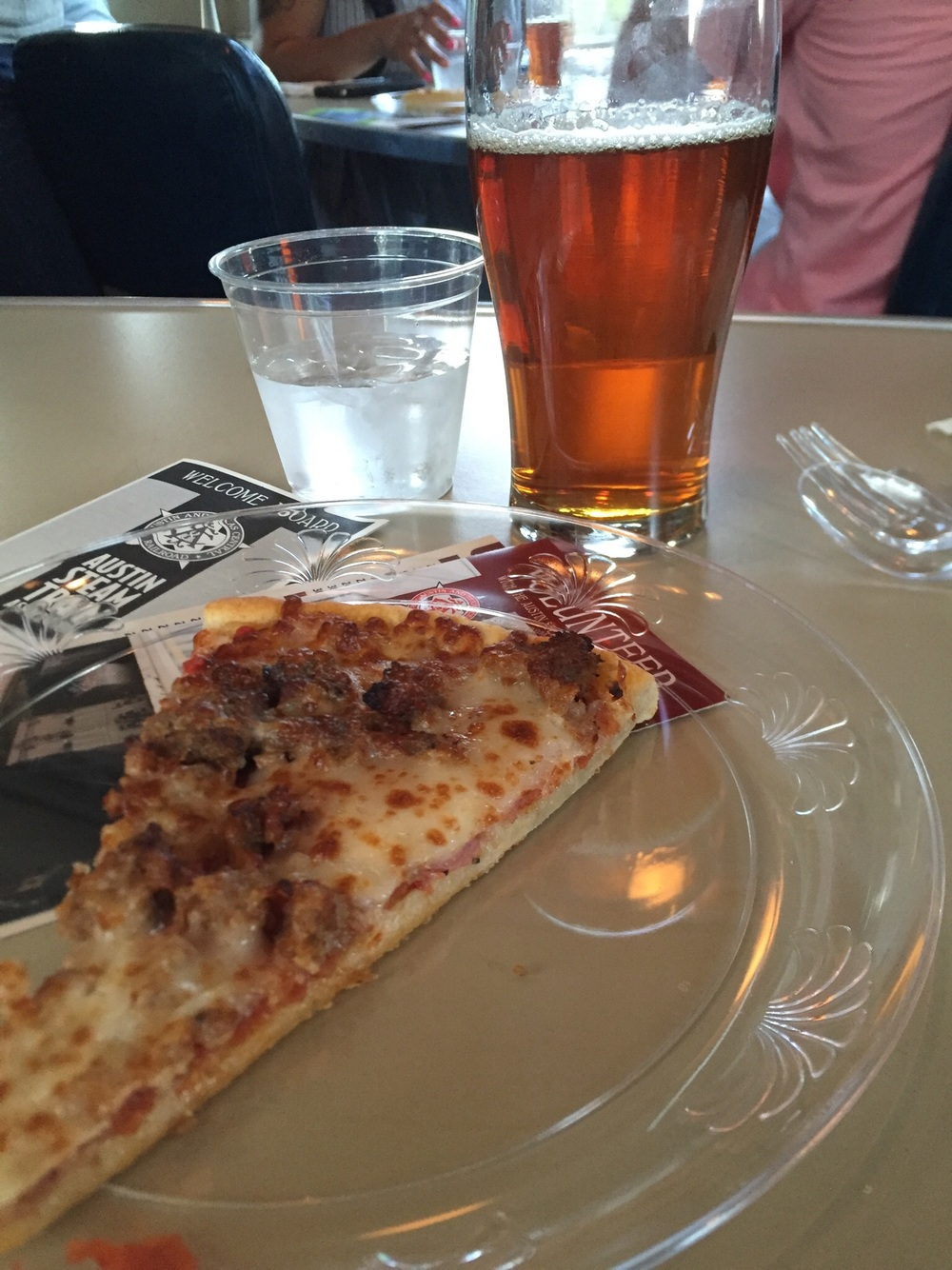 IPA and meat pizza