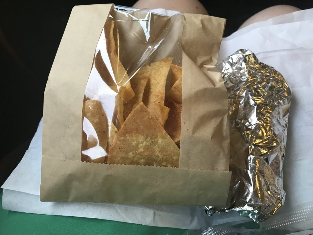 Tortilla Chips and Pork Taco