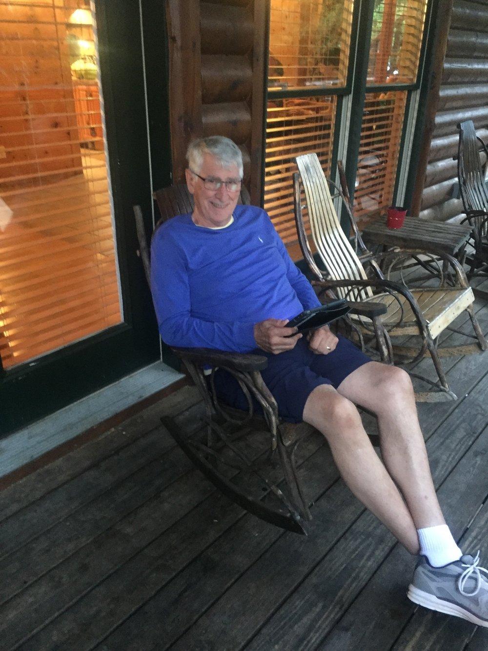 Older Man in a Rocker