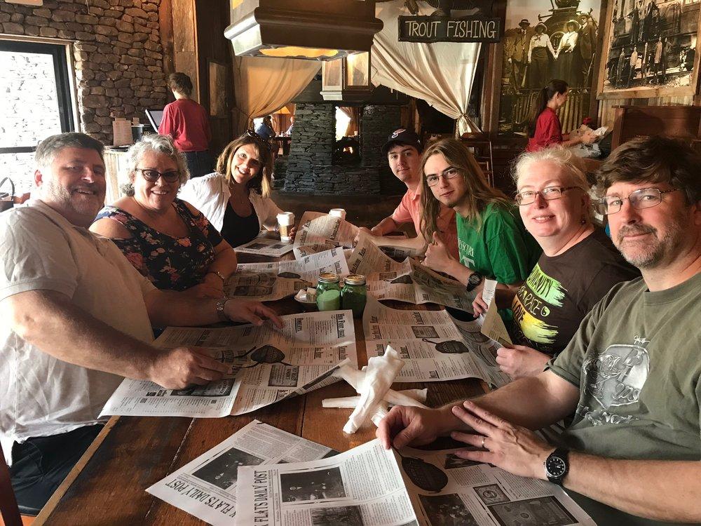 Half the Fam (Dave, Tammy, Sallie, Dan, Sue, Jared, Bryan)