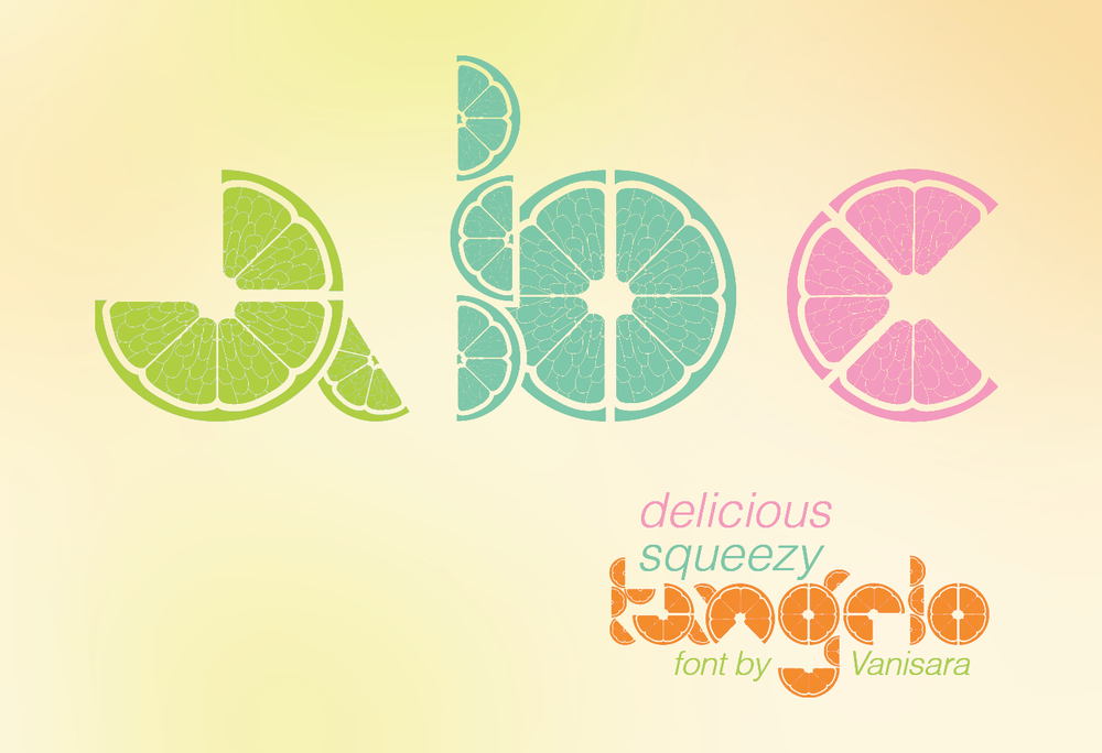 Tangelo Font inspired by citrus fruits