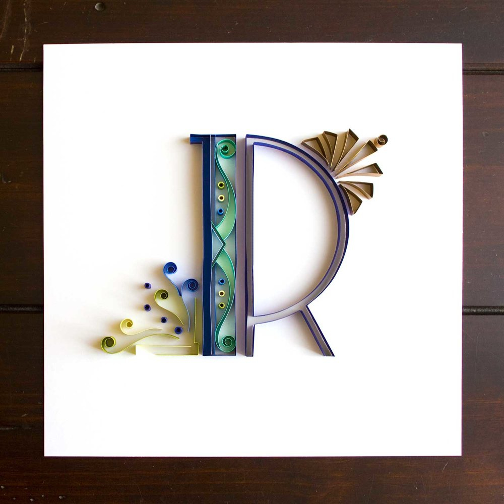Letter R is the first letter I made for my classy favourite aunt. From the very first time you meet her, you will get a sense of her sophistication, but what you will never forget is her laughter. It is as if:  If it isn't work time, we'd better be laughing our asses off!  Oh she is a very fun person, always telling laugh-out-loud stories, and making funny remarks in whatever activity we do. In her 50's, she also went back to get bachelor's degree at the same time my mom did. And you can bet they had a blast every weekend class ;)