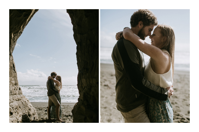 NEW ZEALAND ENGAGEMENT SESSION AT GEMSTONE BEACH