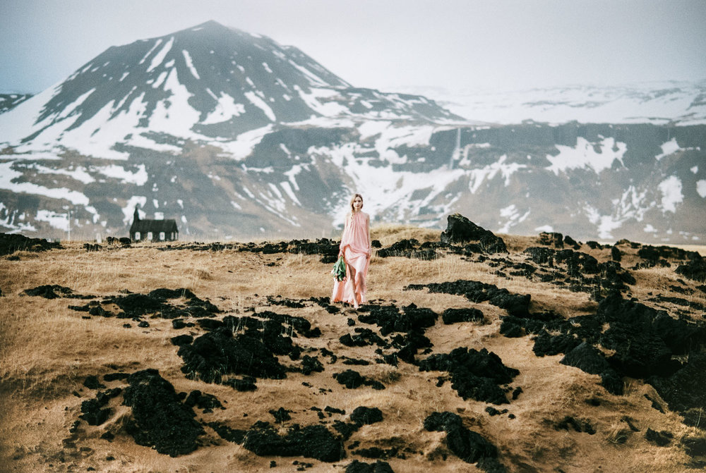 BÚÐIR BRIDAL EDITORIAL ON FILM / ICELAND -