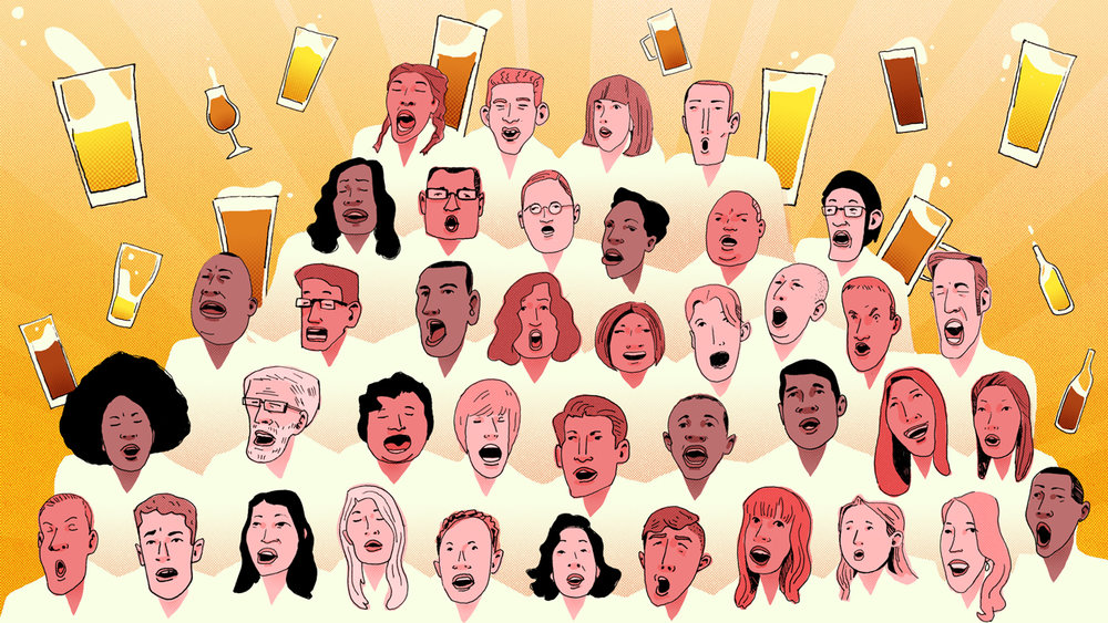 Client : Beer Advocate - October 2017    Art Direction: Taylor Seidler    'Beer Choirs'