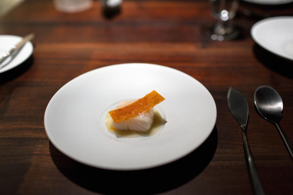 Cod with Yogurt, Rangpur Lime @ Saison (San Francisco, California).