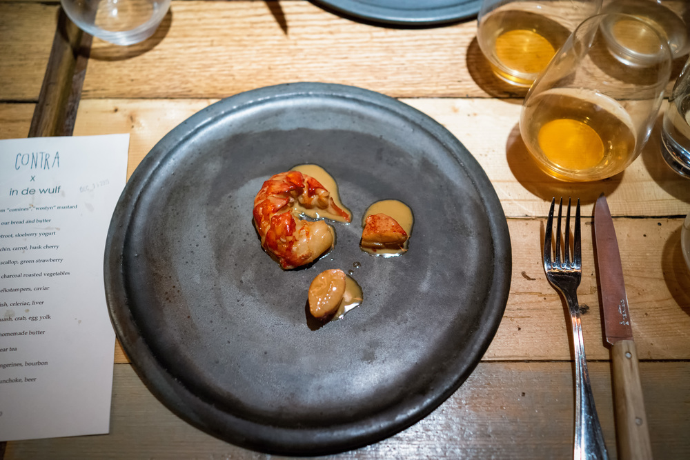 Lobster @ Contra x In De Wulf (New York, New York).