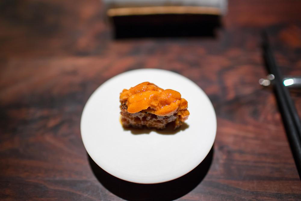 Sea Urchin, Liquid Toast @ Saison (San Francisco, California).