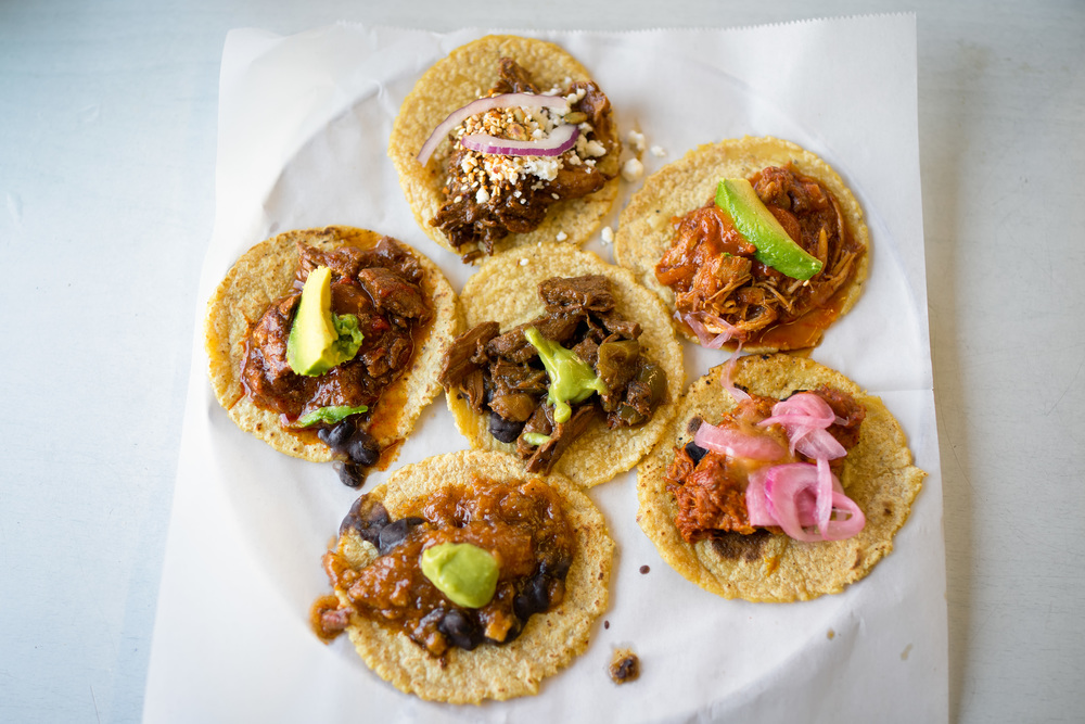 When in doubt, order the sampler (Guisados, in Boyle Heights).