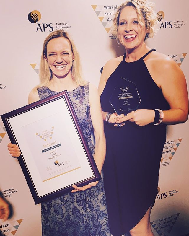 Annnnnnd we won!!!! #APS #thinkhowe #thinkhowehappy  #telstra  #recklessabandontour  #buildingbetterworkplaces