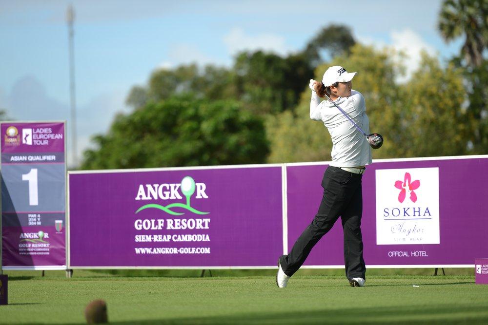 Liu leads the way at Angkor Golf Resort.