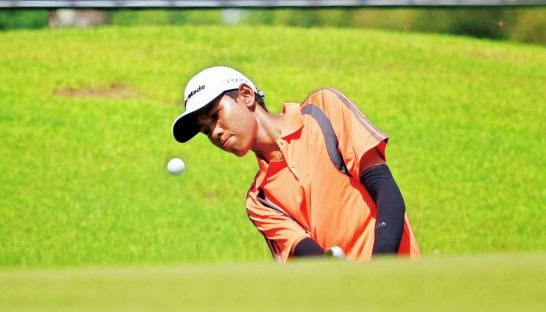 Thailand's Watcharasit Trachuentong plays during the 2012 Faldo Series Cambodia championship at Angkor Golf Resort. photo by Sreng Meng Srun