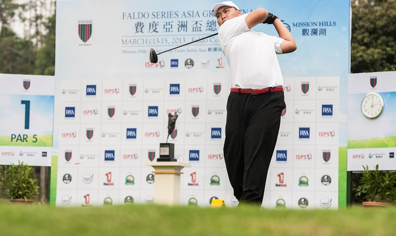 Kim Dong-Hyun of South Korea, winner of the 2012 Faldo Series Cambodia Championship, in action during the Asia Grand Final at Mission Hills Golf Club in China in March 2013.