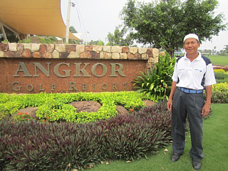 Borhan Bin Ujang had two aces in the same round at the Angkor Golf Resort.