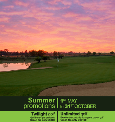 *** TWILIGHT GOLF *** - Green Fee only USD60   *** UNLIMITED GOLF *** - Green Fee only USD150