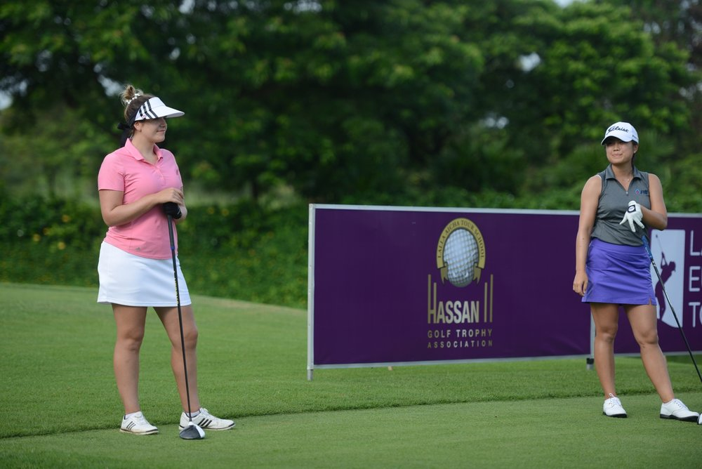 Paige & Jackie at the first Tee