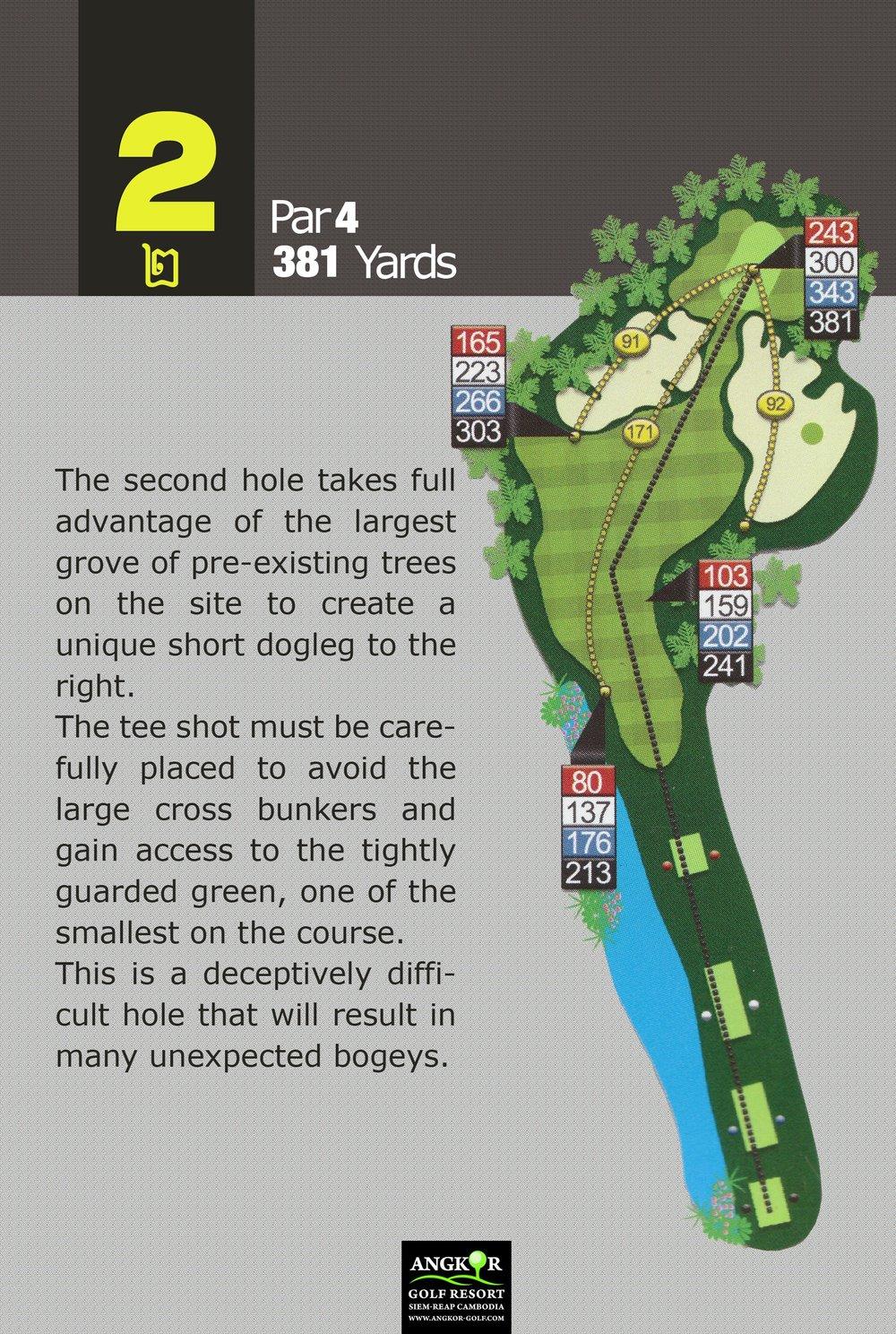 Hole 2 - Par 4 381 Yards