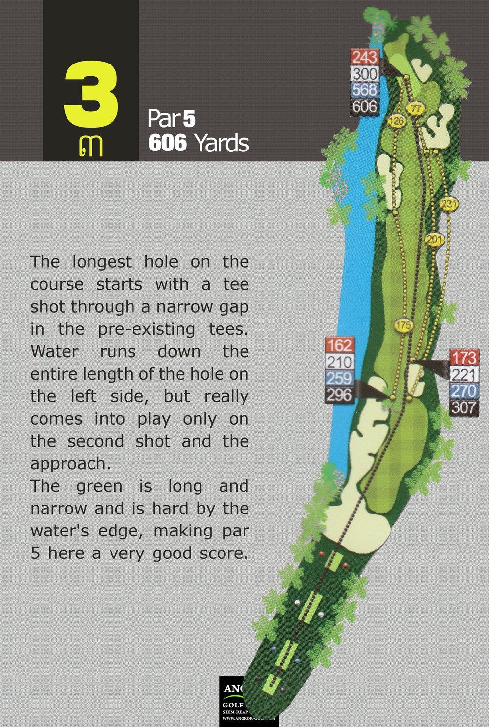 Hole 3 - Par 5 606 Yards