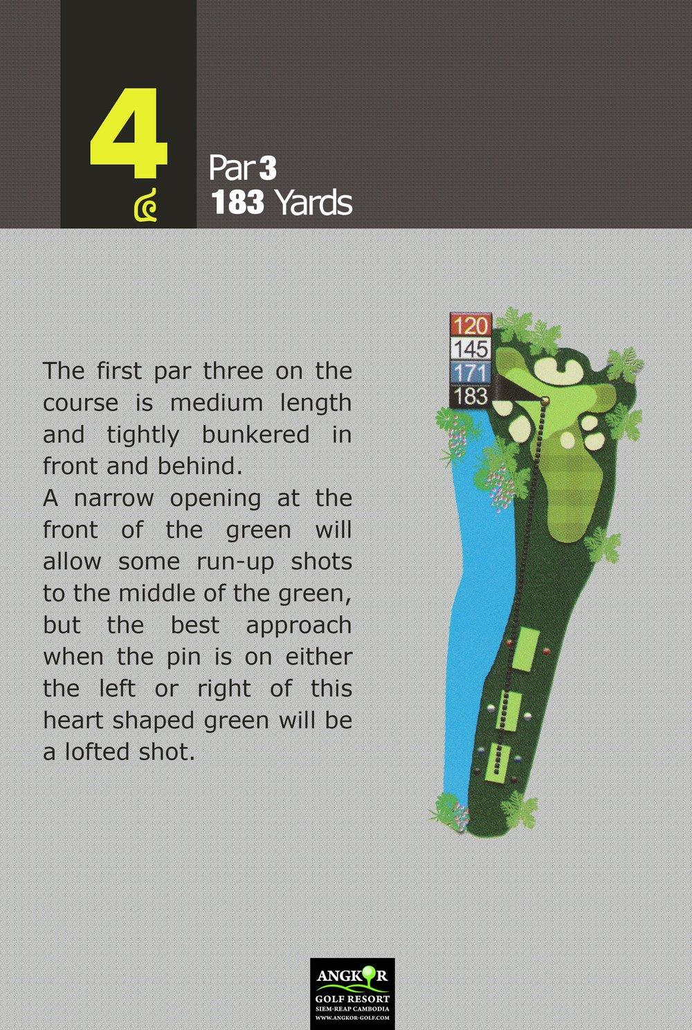 Hole 4 - Par 3 183 Yards