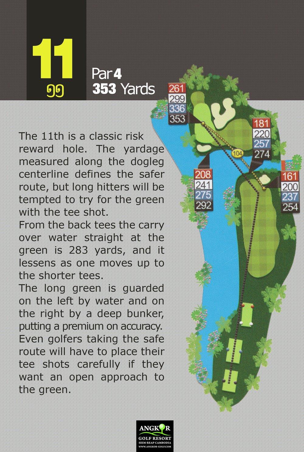 Hole 11 - Par 4 353 Yards