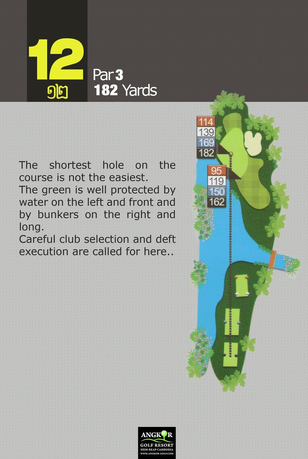 Hole 12 - Par 3 182 Yards