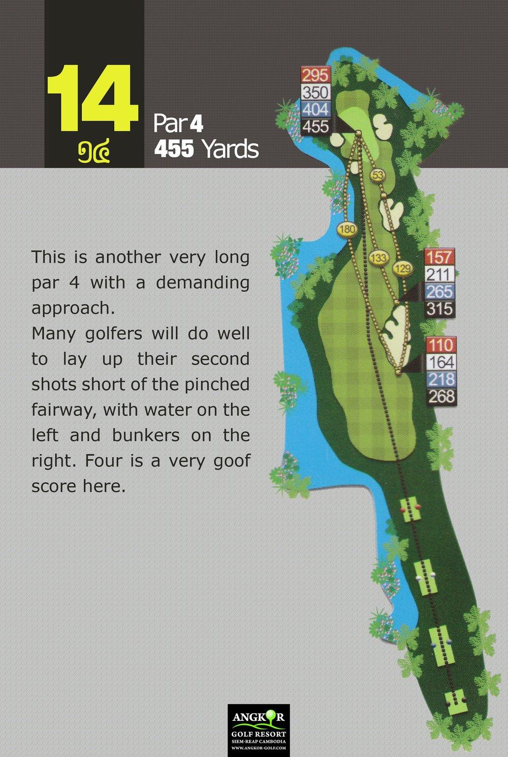 Hole 14 - Par 4 455 Yards