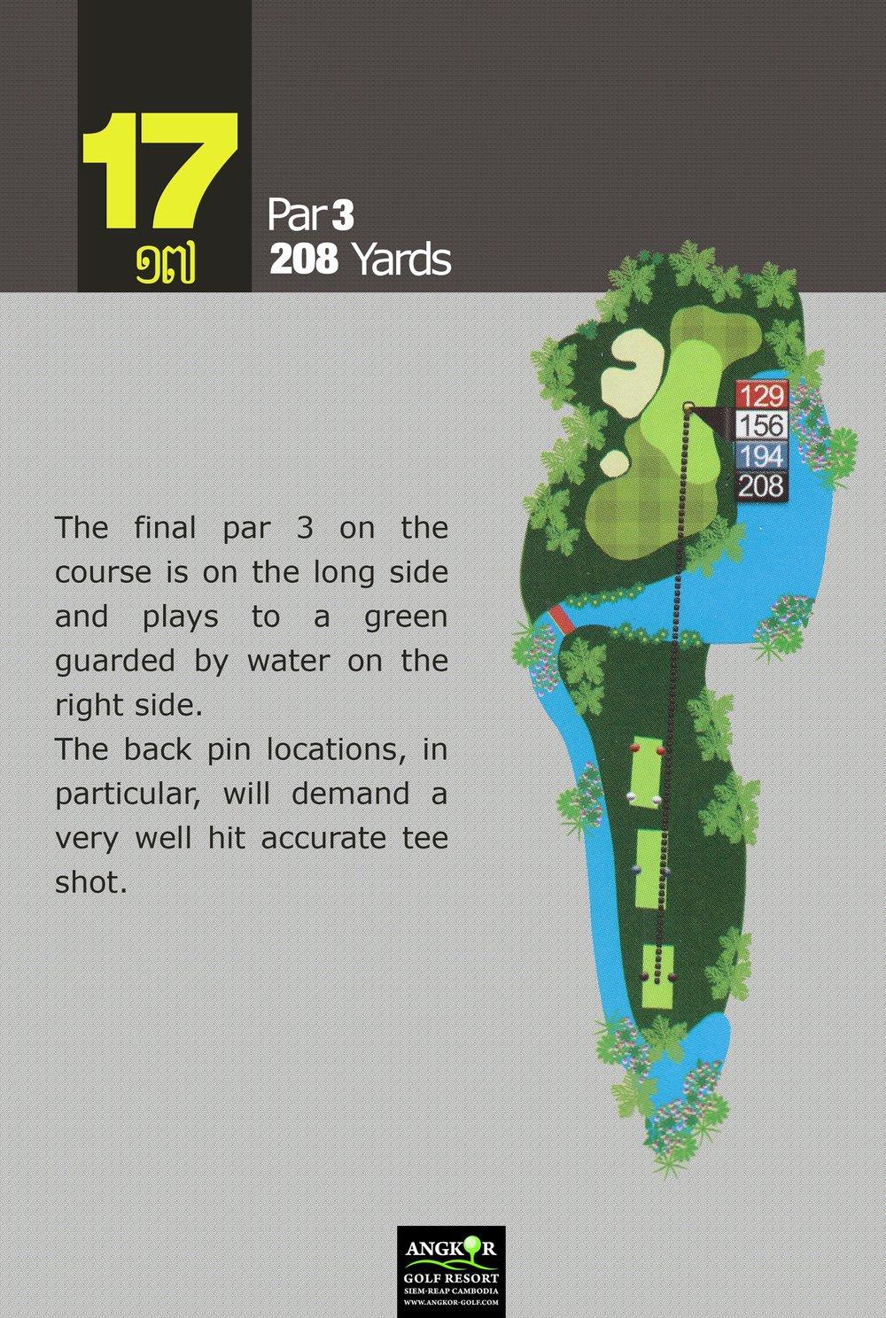 Hole 17 - Par 3 208 Yards