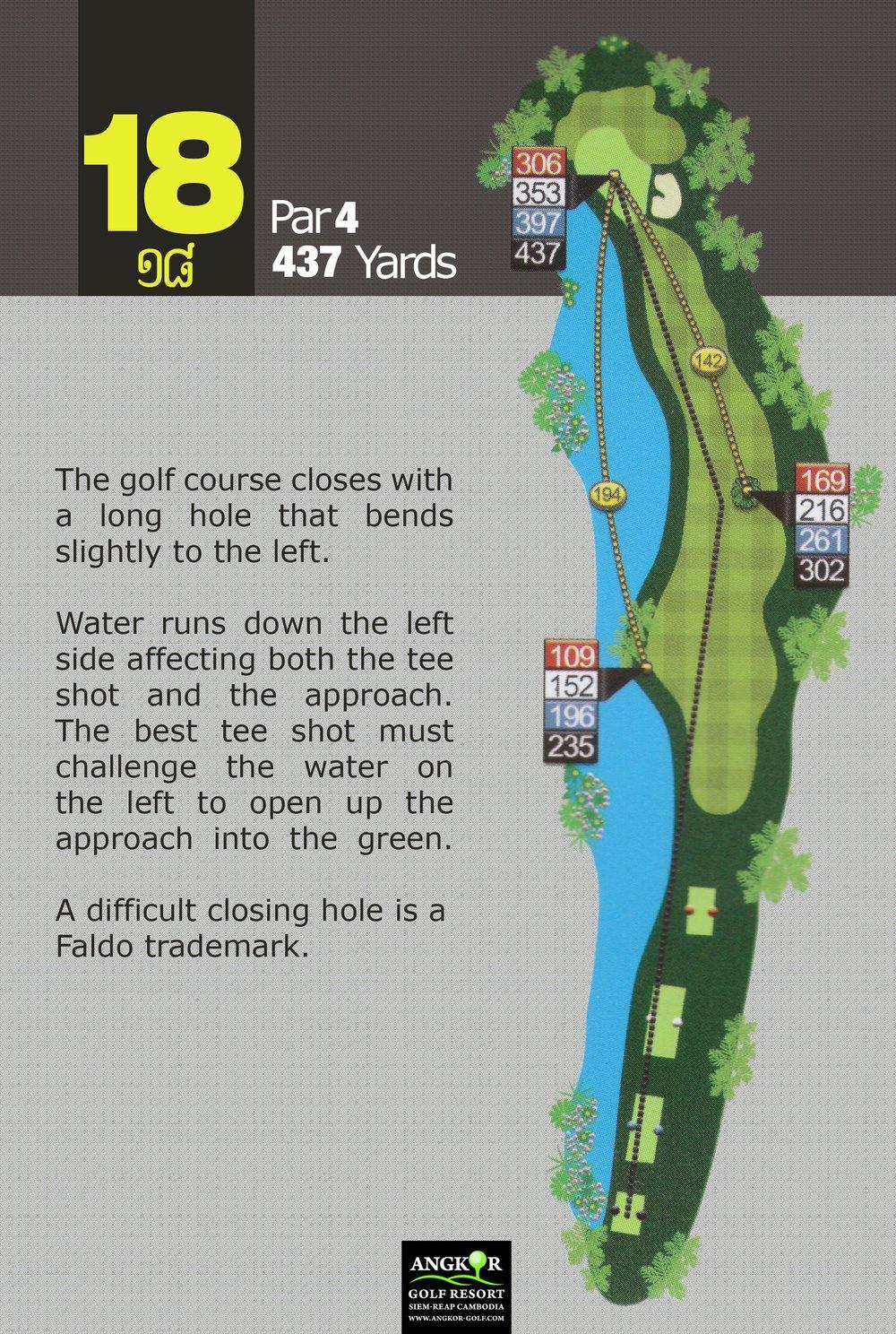 Hole 18 - Par 4 437 Yards