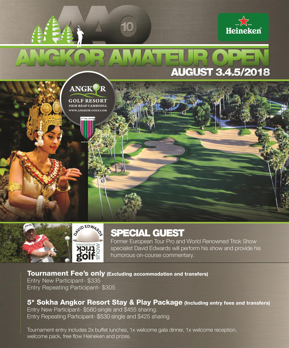Angkor Amateur Open 2018 Flyer