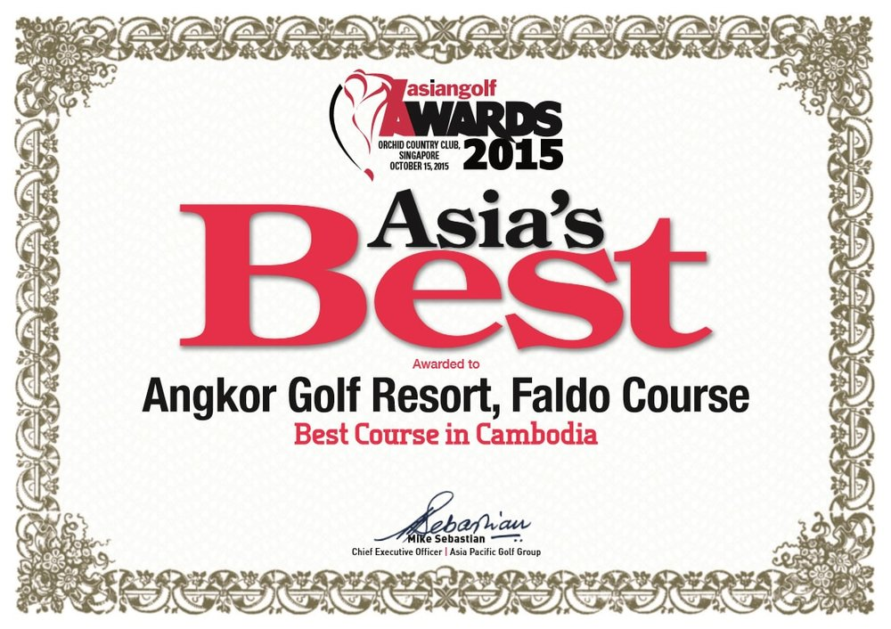 Asia's Best Course in Cambodia 2015