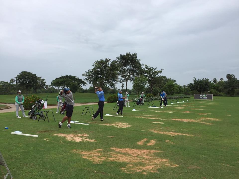 Practice at driving range