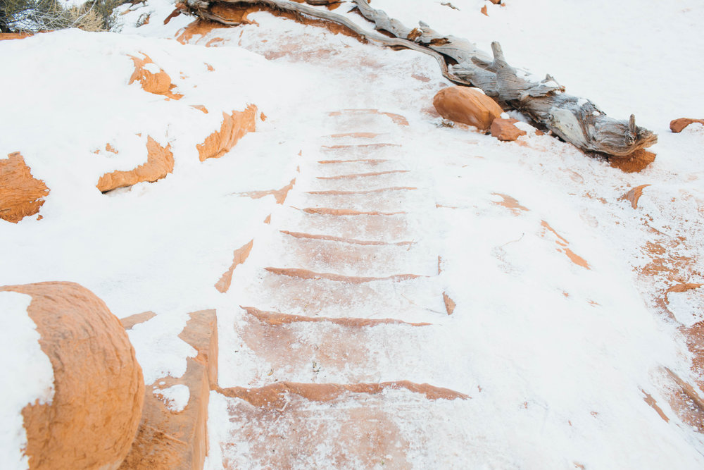 Yikes! Check out the ice on these stairs!