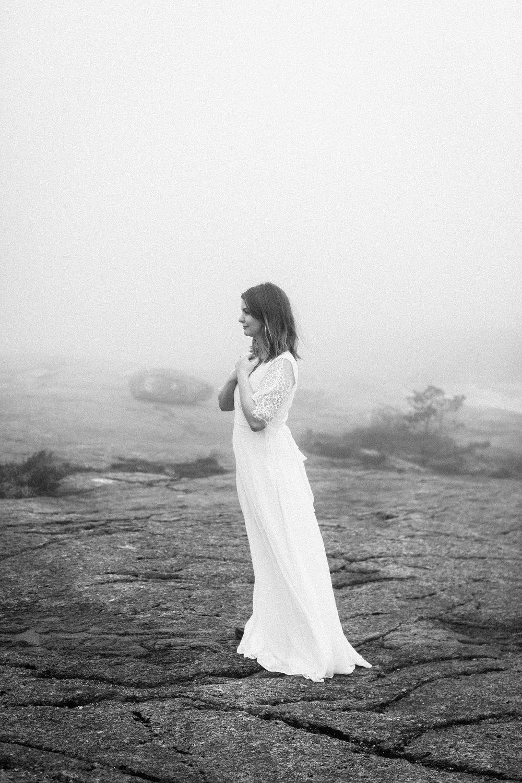 bride in fog in norway