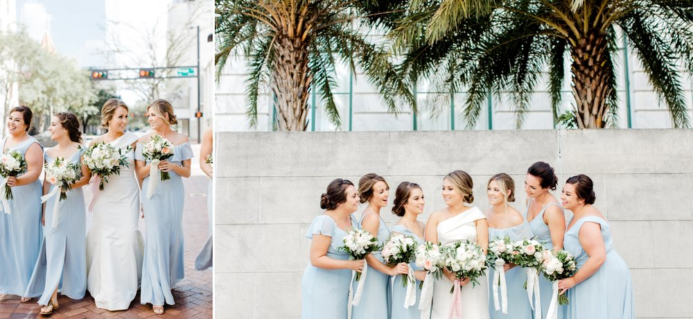 bridesmaids and palm trees in tampa