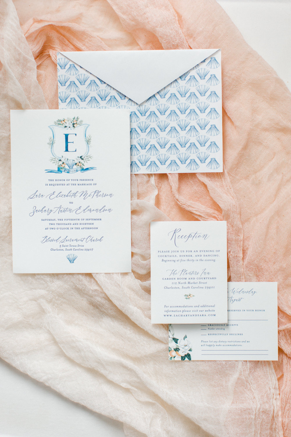 blush invitation suite by sas-e ink