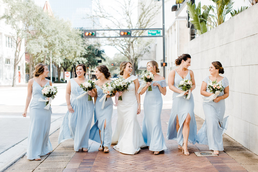 baby blue bridesmaids dresses