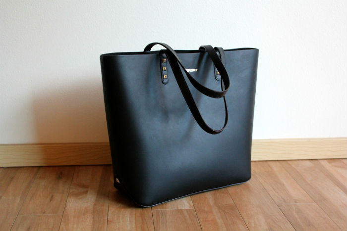 The Perfect Black Leather Tote — ART OF WORE