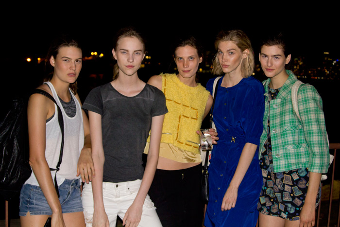 Models and the street-style set at the Opening Ceremony Spring 2014 after-party.
