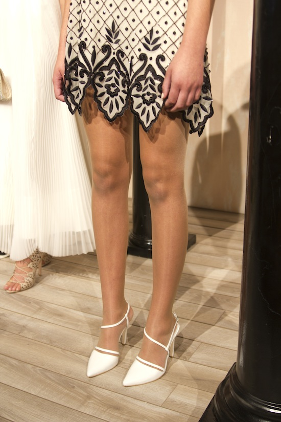 Girly cocktail dresses and my new favorite shoes at Alice + Olivia Spring 2014.